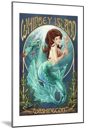 Whidbey Island, Washington - Mermaid-Lantern Press-Mounted Art Print