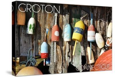Groton, Connecticut - Buoys-Lantern Press-Stretched Canvas Print
