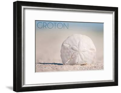 Groton, Connecticut - Sand Dollar and Beach-Lantern Press-Framed Art Print