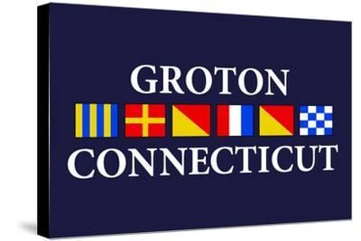 Groton, Connecticut - Nautical Flags-Lantern Press-Stretched Canvas Print