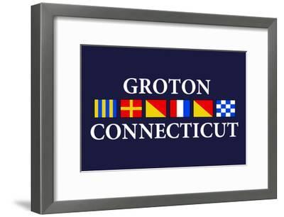 Groton, Connecticut - Nautical Flags-Lantern Press-Framed Art Print