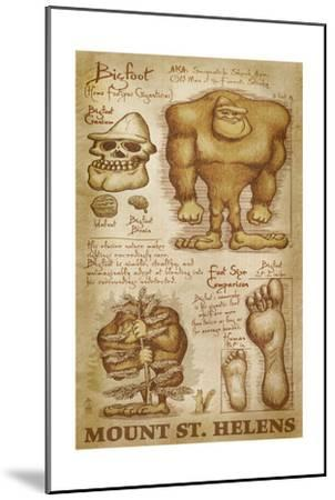 Mount St. Helens, Washington - Bigfoot da Vinci-Lantern Press-Mounted Art Print