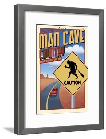 Man Cave Country-Lantern Press-Framed Art Print