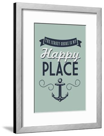The Jersey Shore Is My Happy Place-Lantern Press-Framed Art Print