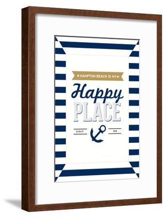 Hampton Beach, New Hampshire - Hampton Beach Is My Happy Place-Lantern Press-Framed Art Print