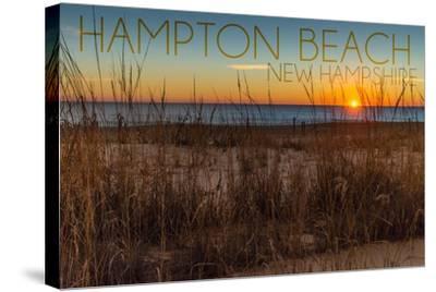 Hampton Beach, New Hampshire-Lantern Press-Stretched Canvas Print