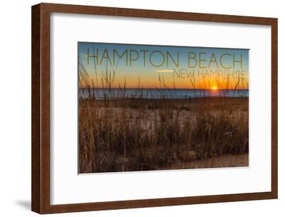 Hampton Beach, New Hampshire-Lantern Press-Framed Art Print