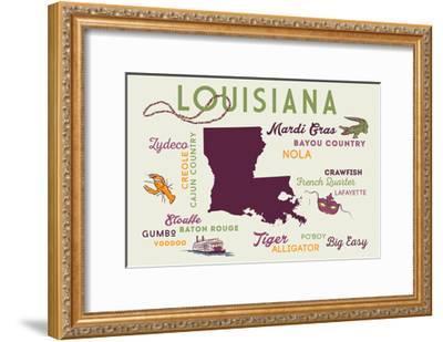 Louisiana and Icons-Lantern Press-Framed Art Print