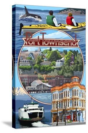 Port Townsend, Washington - Montage Scenes-Lantern Press-Stretched Canvas Print
