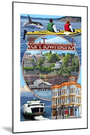 Port Townsend, Washington - Montage Scenes-Lantern Press-Mounted Art Print