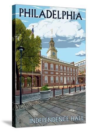 Philadelphia, PA - Independence Hall-Lantern Press-Stretched Canvas Print