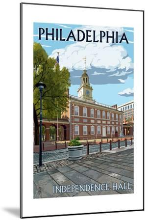 Philadelphia, PA - Independence Hall-Lantern Press-Mounted Art Print