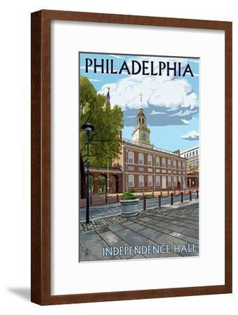 Philadelphia, PA - Independence Hall-Lantern Press-Framed Art Print