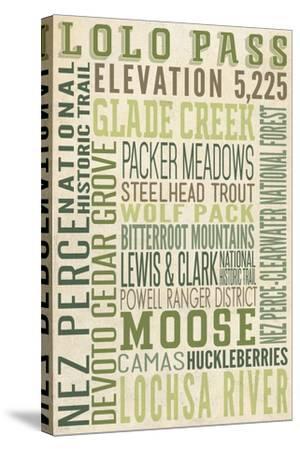 Lolo Pass, Idaho-Lantern Press-Stretched Canvas Print