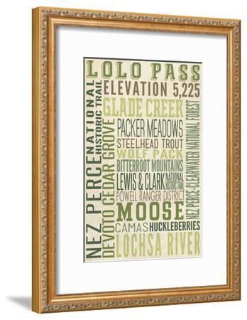 Lolo Pass, Idaho-Lantern Press-Framed Art Print