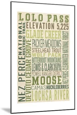 Lolo Pass, Idaho-Lantern Press-Mounted Art Print