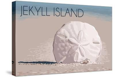 Jekyll Island, Georgia - Sand Dollar-Lantern Press-Stretched Canvas Print