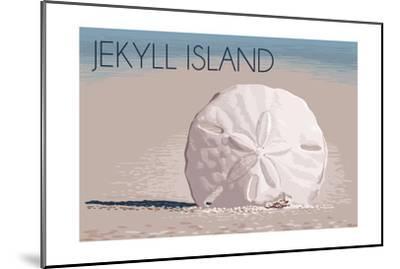 Jekyll Island, Georgia - Sand Dollar-Lantern Press-Mounted Art Print