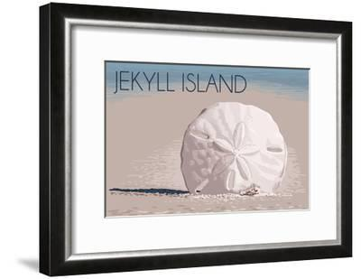 Jekyll Island, Georgia - Sand Dollar-Lantern Press-Framed Art Print