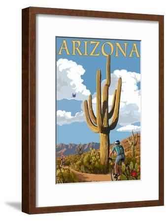 Arizona - Bicycling Scene-Lantern Press-Framed Art Print