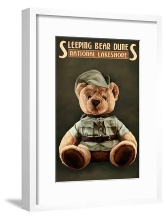 Teddy Bear - Sleeping Bear Dunes National Seashore, Michigan-Lantern Press-Framed Art Print