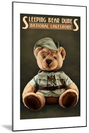 Teddy Bear - Sleeping Bear Dunes National Seashore, Michigan-Lantern Press-Mounted Art Print