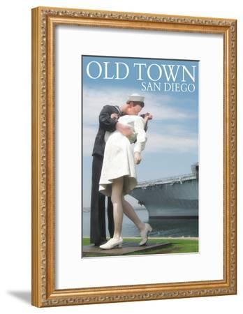 Old Town - San Diego, California - Sailor Sculpture at USS Midway-Lantern Press-Framed Art Print