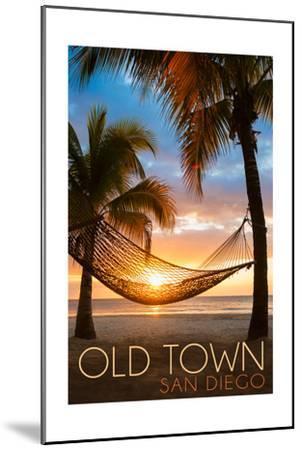 Old Town - San Diego, California - Hammock and Sunset-Lantern Press-Mounted Art Print
