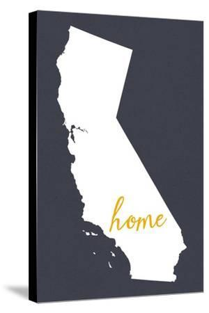 Southern California - Home State - Outline-Lantern Press-Stretched Canvas Print
