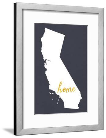Southern California - Home State - Outline-Lantern Press-Framed Art Print