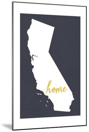 Southern California - Home State - Outline-Lantern Press-Mounted Art Print