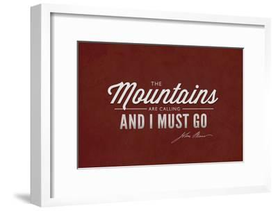 John Muir - the Mountains are Calling-Lantern Press-Framed Art Print
