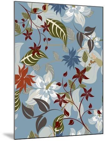 Seamless Floral Pattern Background - Illustration-Jxana-Mounted Art Print