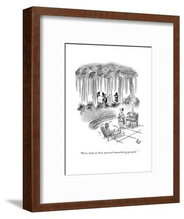 New Yorker Cartoon-Frank Cotham-Framed Premium Giclee Print