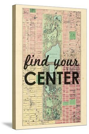 Find Your Center - 1867, New York City, Central Park Composite, New York, United States Map--Stretched Canvas Print
