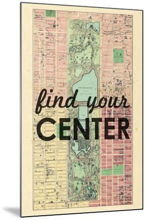 Find Your Center - 1867, New York City, Central Park Composite, New York, United States Map--Mounted Giclee Print