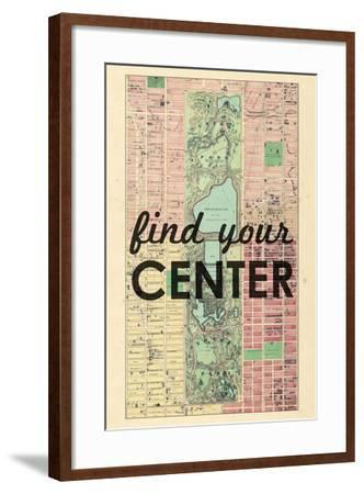 Find Your Center - 1867, New York City, Central Park Composite, New York, United States Map--Framed Giclee Print