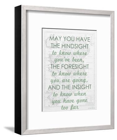 An Irish Blessing on Hindsight, Foresight & Insight - 1741, Ireland Map--Framed Giclee Print