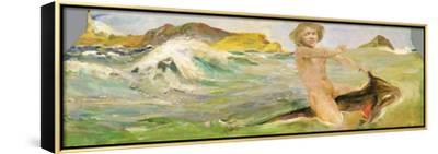 Ride on a Shark, 1884-85-Max Klinger-Framed Stretched Canvas Print