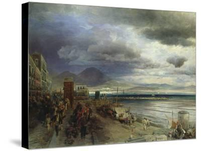 The Coast of Naples, 1877-Andreas Achenbach-Stretched Canvas Print