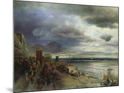 The Coast of Naples, 1877-Andreas Achenbach-Mounted Giclee Print