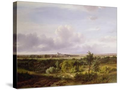 Dutch Landscape, 19th Century-Pieter Lodewijk Francisco Kluyver-Stretched Canvas Print