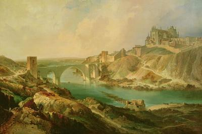 View of Toledo, 1854-Eugenio Lucas y Padilla-Framed Giclee Print