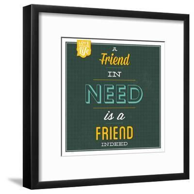 Friend Indeed-Lorand Okos-Framed Art Print