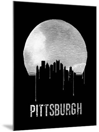 Pittsburgh Skyline Black--Mounted Art Print