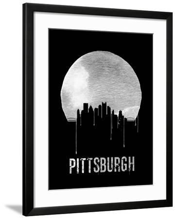 Pittsburgh Skyline Black--Framed Art Print