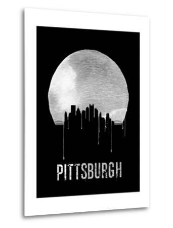 Pittsburgh Skyline Black--Metal Print