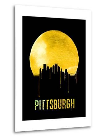 Pittsburgh Skyline Yellow--Metal Print