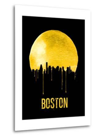 Boston Skyline Yellow--Metal Print