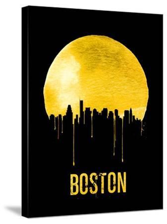Boston Skyline Yellow--Stretched Canvas Print